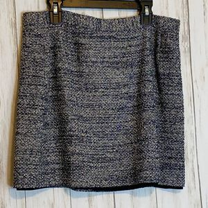 Theory Navy/White Tweed Mini Skirt